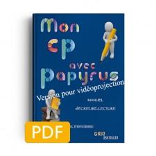 Matière : CP. Titre : Mon CP avec Papyrus Version projection